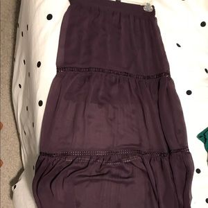 Long purple maxi skirt